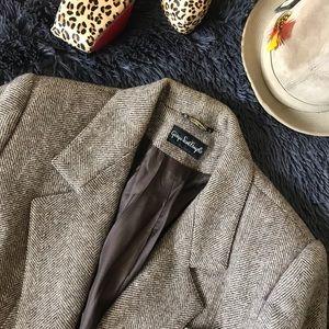 Giorgio Sant  Angelo Houndstooth Wool Blazer